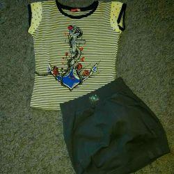 φούστα + μπλουζάκι