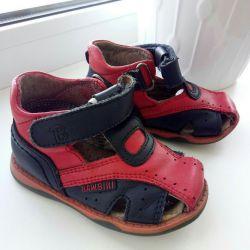 Sandals orthopedic leather nat.