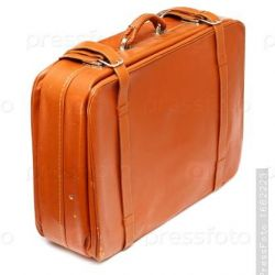 English vintage handmade suitcase