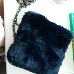 Small fur bag on a chain