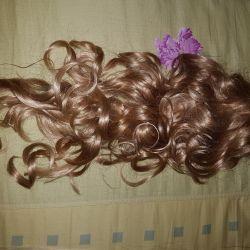 Волосы на заколке(хвост)