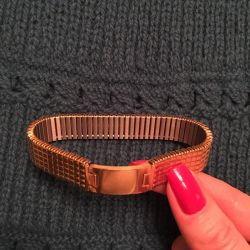 Новый браслет с золотым покрытием  750 проба