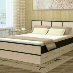 Bed with drawers, with mattress 160/200. New!