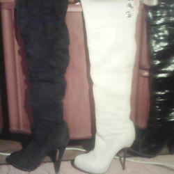 Μπότες από την εποχή της Basconi, δέρμα φυσικό μέγεθος 35