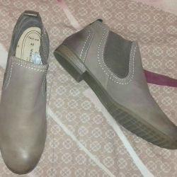 Yeni bayan deri ayakkabı