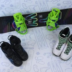 FTW Random 135 cm snowboard + bindings + boots