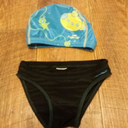 Swimming trunks and swimming cap