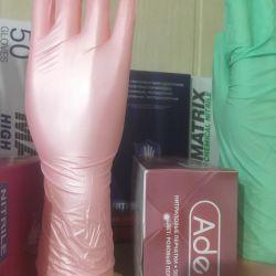 Mănuși nitril de mătase-de-perle