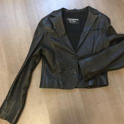Kısaltılmış deri ceket