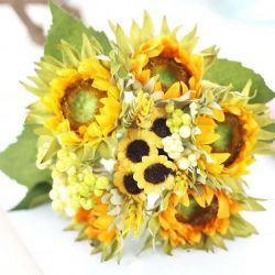 Artificial flowers, sunflowers