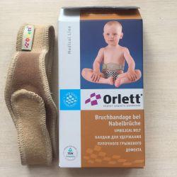 Navel-hernia.defect tutmak için Çocuk bandaj