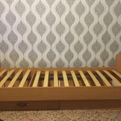‼ ️?Street Children's Bed without a Mattress 60 * 170