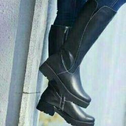 Χειμώνας μπότες. Φυσικό δέρμα.evromeh.40size.new