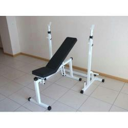 Bench athletic with a support for a bar new