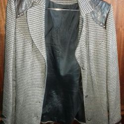 Women's jacket with leather inserts