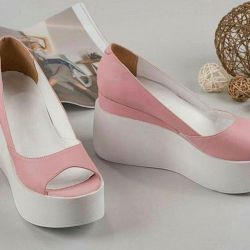 Delicate pink shoes
