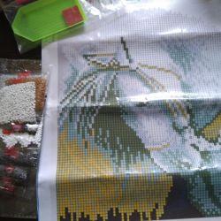 Set of mosaic rhinestones 25 to 30