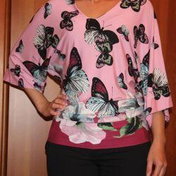 Pembe jarse bluz