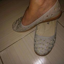 sığar. bale ayakkabısı gri. 35 ila 40r.