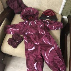 Kış için tam bir kıyafet seti, 68-80