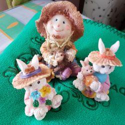 Three funny figures