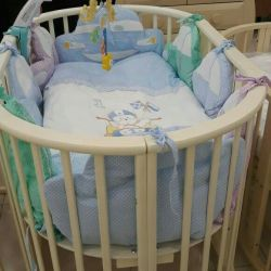 Oval bed Nicole 3 in 1