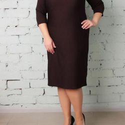 Midi Casual Dress for a Luxuriant Woman
