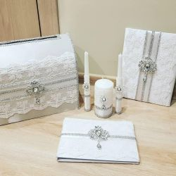 set of wedding accessories