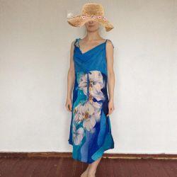 Дизайнерський шовковий сарафан, батик