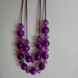 Violet - purple short beads
