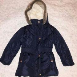 Детская теплая куртка 98см