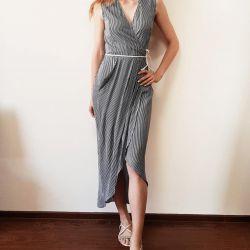 New dress sundress strip belt on the smell of women