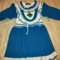 Knitted dress for 1-1.5 years