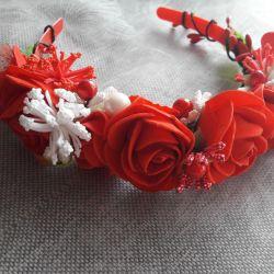 headband-wreath handmade!