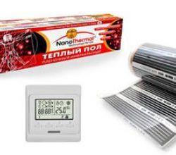 Теплый пол и терморегулятор Nanothermal.