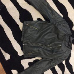 Leather jacket artificial Stradivarius