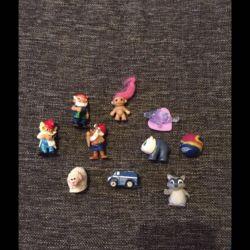 Kinder surprise 10 pieces together
