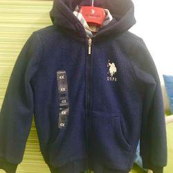 Новая кофта (куртка) US Polo Assn, 3-5 лет