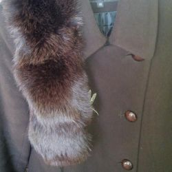 Autumn-Winter coat, there is fur on the collar.