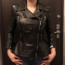 Leather cool jacket Alexander McQueen original
