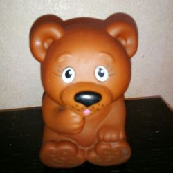 Toy rubber bear