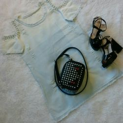 Джинсовое короткое платье 44