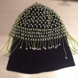 Wicker hats made of beads 55