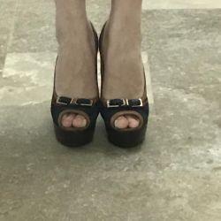 Туфлі 38 натуральна замша! Нові! 🌸