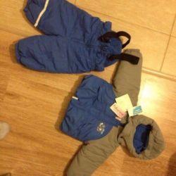 Yeni kış takım elbise 74 cm