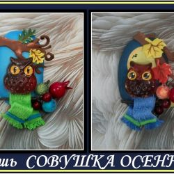 Brooches Autumn Owl from Foamiran