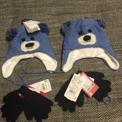 Cap Kerry p. 46 and gloves Reima 6-18 months new