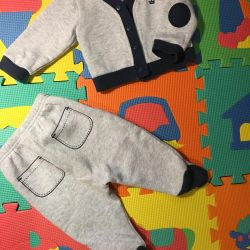 Cald costum pentru copii 3-6 luni. Babayka