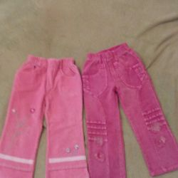 Pants for a girl. 2-3 years.