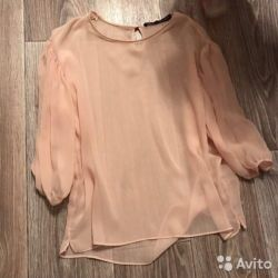 Noua culoare bluza de culoarea piersicii ZARA